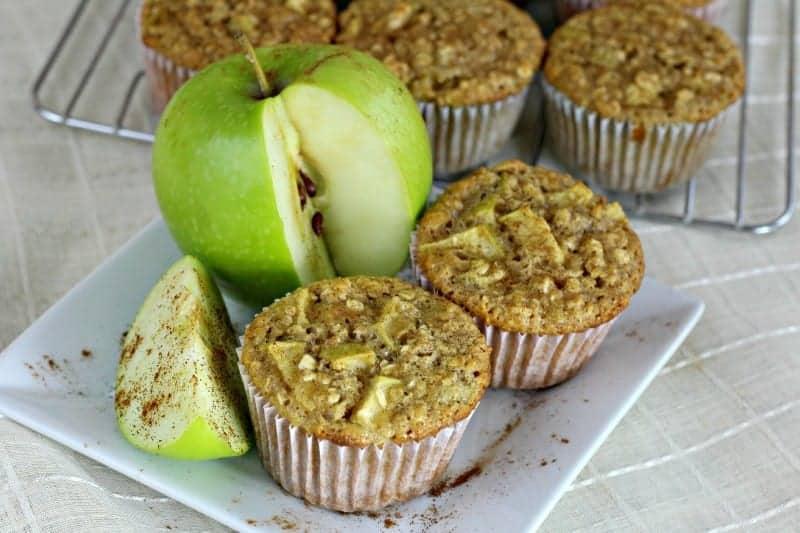 Apple Cinnamon Oatmeal Gluten-Free Muffins