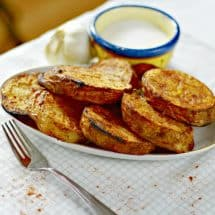 Marinated and Sliced Grilled Potatoes