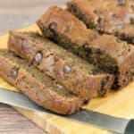 Soft, moist and chocolatey goodness in this gluten free banana bread recipe!