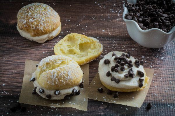 Gluten Free Cream Puffs With Cannoli Filling