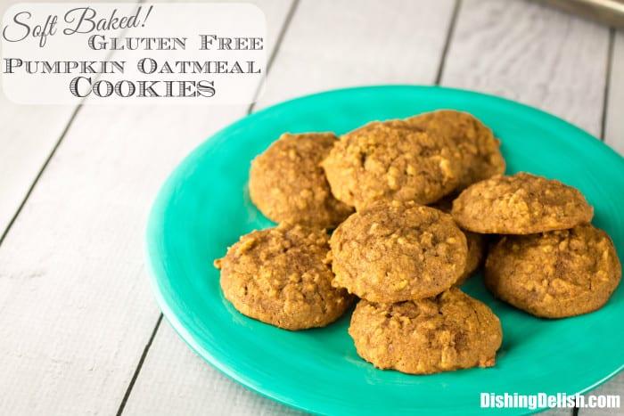 Soft Baked Gluten Free Pumpkin Oatmeal Cookies-8