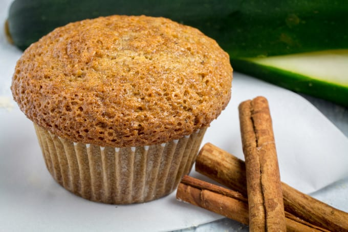 Easy, sweet, packed with the flavors of warm spices, these Gluten Free Zucchini Bread Muffins are perfect for breakfast or even a quick snack. You won't taste zucchini itself, but it makes the bread so moist and fluffy that you would never guess these zucchini bread muffins are gluten free!