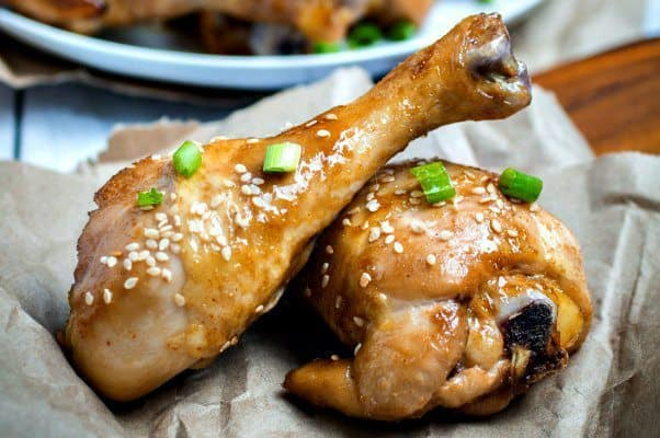 Sweet & Sticky Oven Baked Chicken Drumsticks