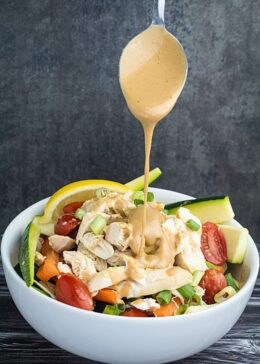 Grilled Chicken Salad & Thai Peanut Dressing Recipe
