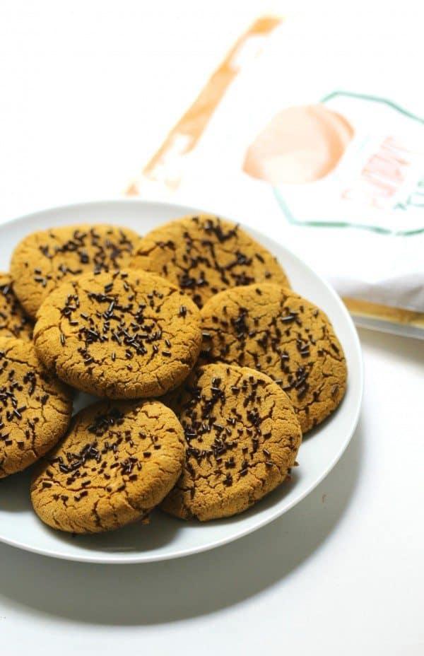 grainless pumpkin spice latte cookies