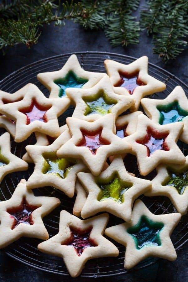 gluten free christmas cookies with stained glass