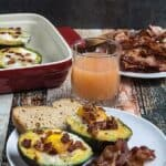Bacon Egg & Cheese Baked Avocados