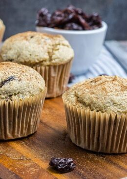 gluten free muffins with dried cherries