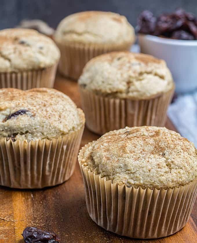 gluten free cherry muffins