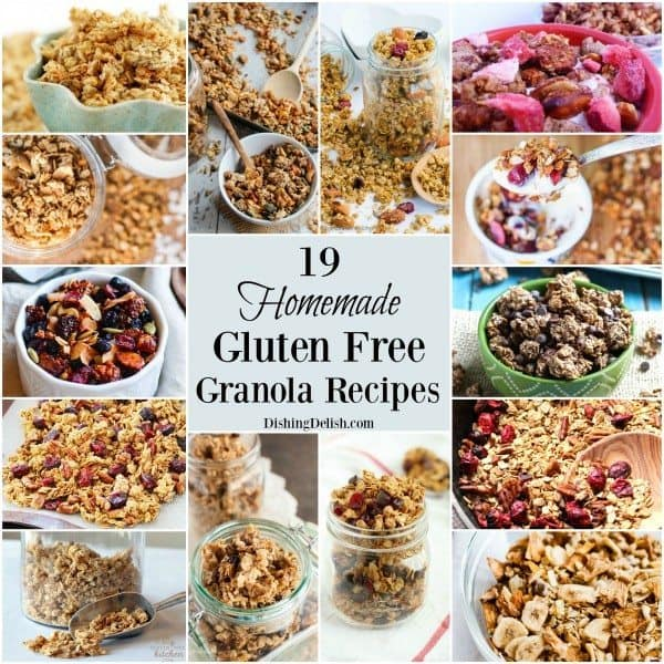 19 Homemade Gluten Free Granola Recipes