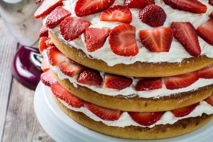 Gluten Free Strawberry Cake