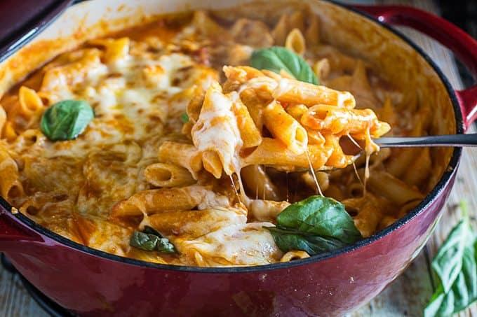 One Pot Chicken Parm & Pasta 4
