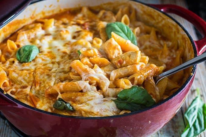 One Pot Chicken Parm & Pasta 5