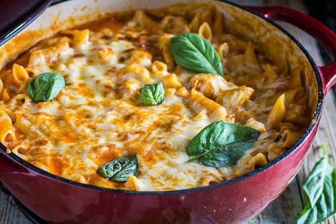 One Pot Chicken Parm & Pasta 6