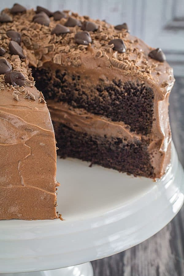 Gluten Free Double Chocolate Cake & Chocolate Frosting
