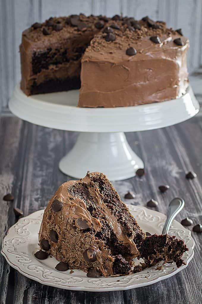 gluten free double chocolate cake