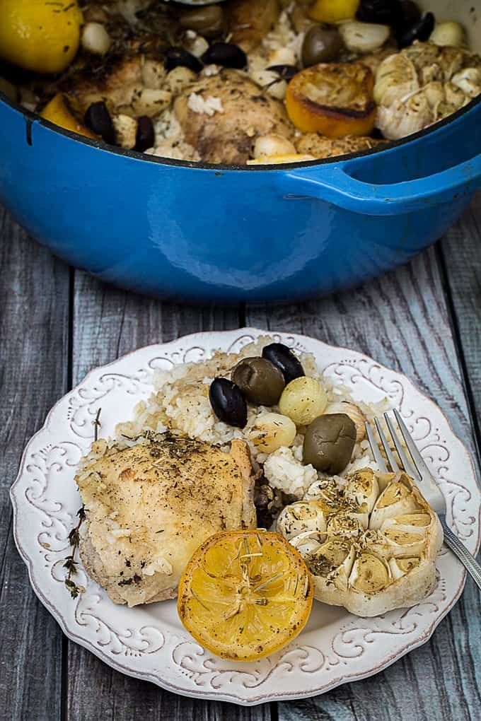 One Pot Greek Lemon Chicken and Rice