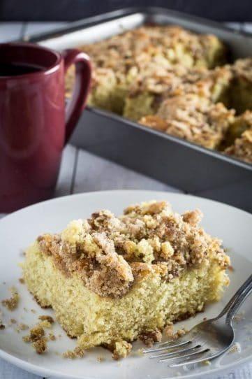 Holiday Gluten Free Coffee Cake Using EggNog