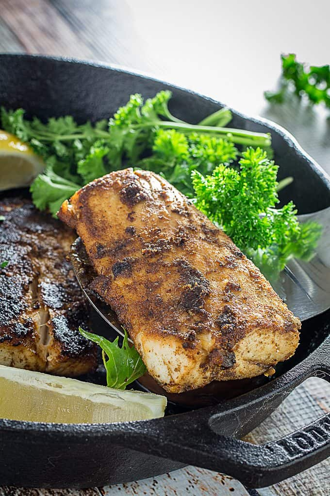 Blackened Mahi Mahi & cajun spice rub