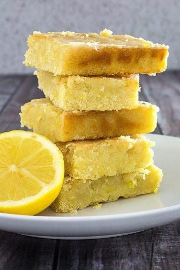 Lemon Brownies & Lemon Glaze – Gluten Free!