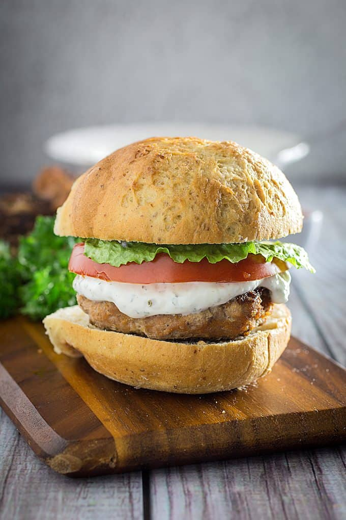 Buffalo Turkey Burgers Yogurt Ranch Dressing