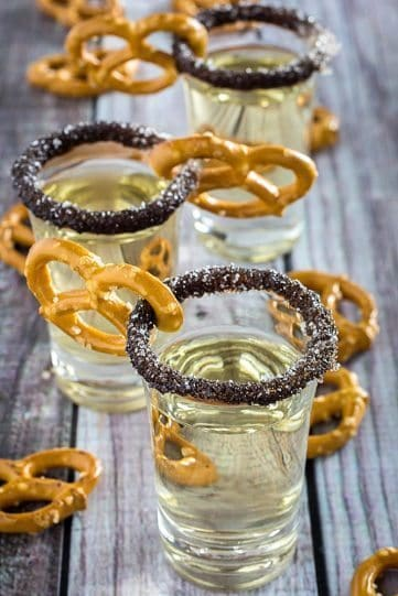 Chocolate Covered Pretzel Shot
