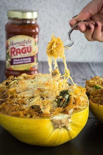 Easy Italian Spaghetti Squash Casserole Boats