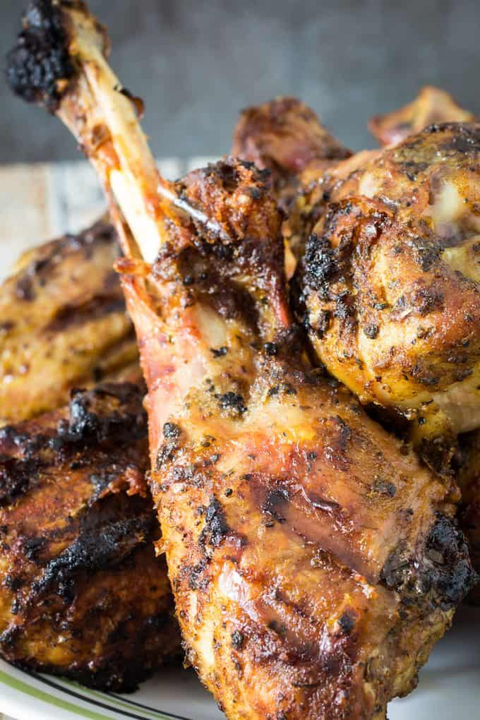 grilled turkey legs