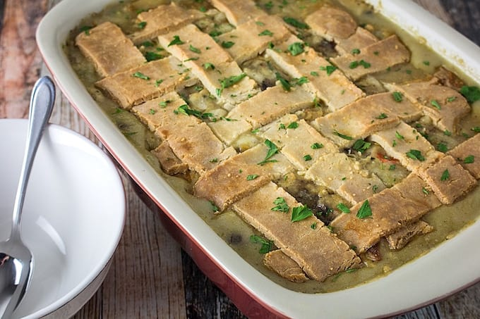 Leftover Turkey Pot Pie Casserole