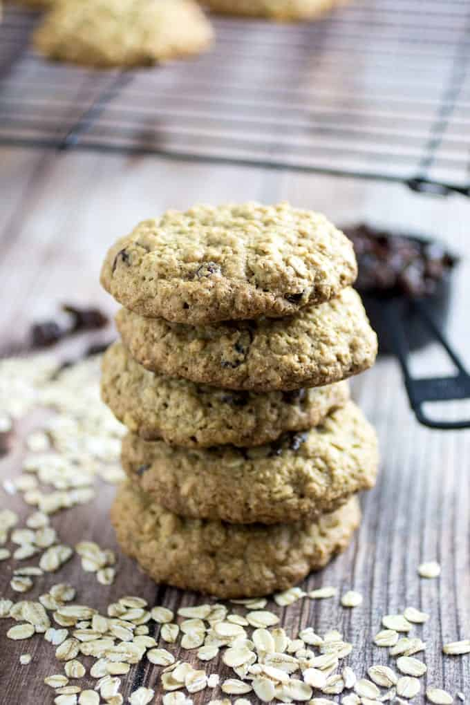 Simple Gluten Free Oatmeal Raisin Cookies • Dishing Delish
