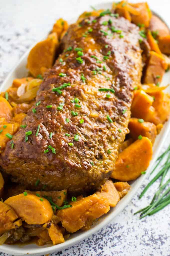 Bbq Slow Cooker Pork Loin Sweet Potatoes