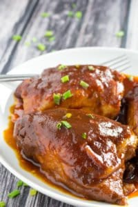 Slow Cooker BBQ Chicken Thighs-5