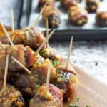 Bacon Wrapped Dates & Goat Cheese