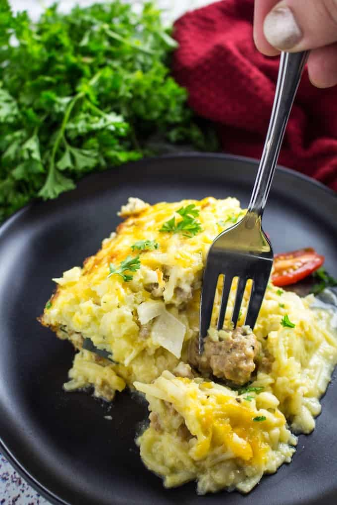 sausage egg hash brown casserole