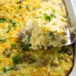 Make Ahead Sausage Hash Brown Casserole