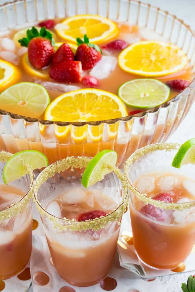 strawberry champagne punch-1