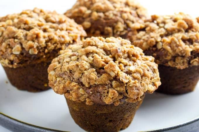 gluten free pumpkin streusel muffins-4