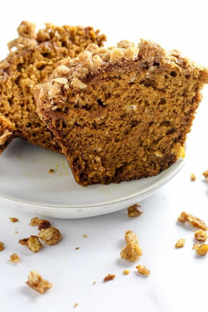 gluten free pumpkin streusel muffins-5