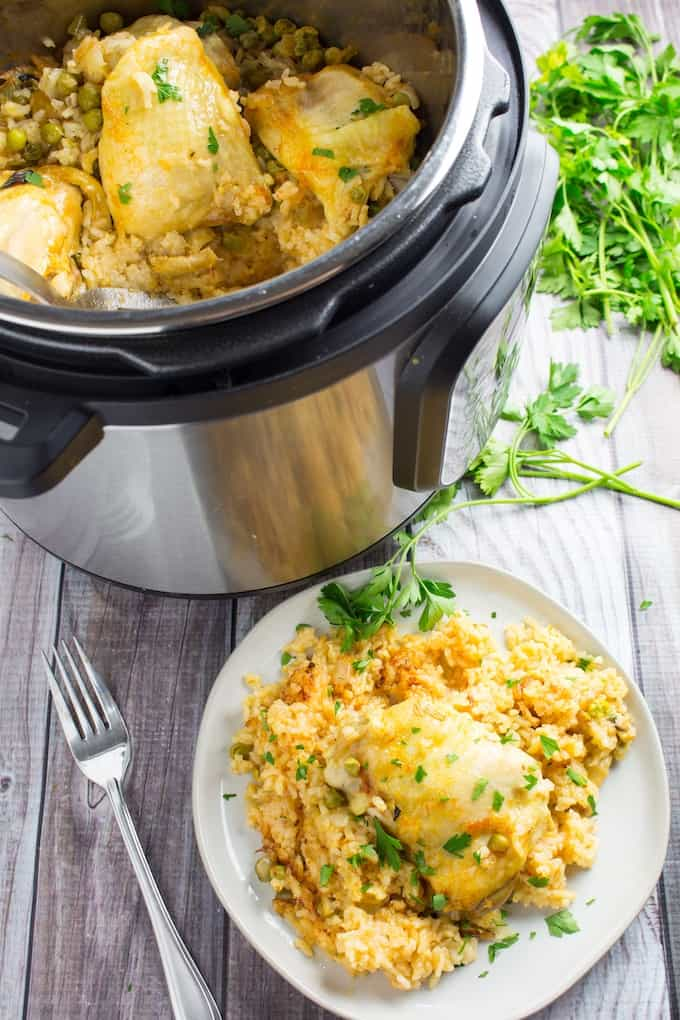 instant pot spanish rice and chicken