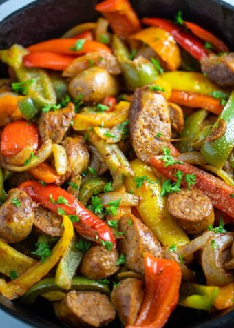 sausage peppers and onions