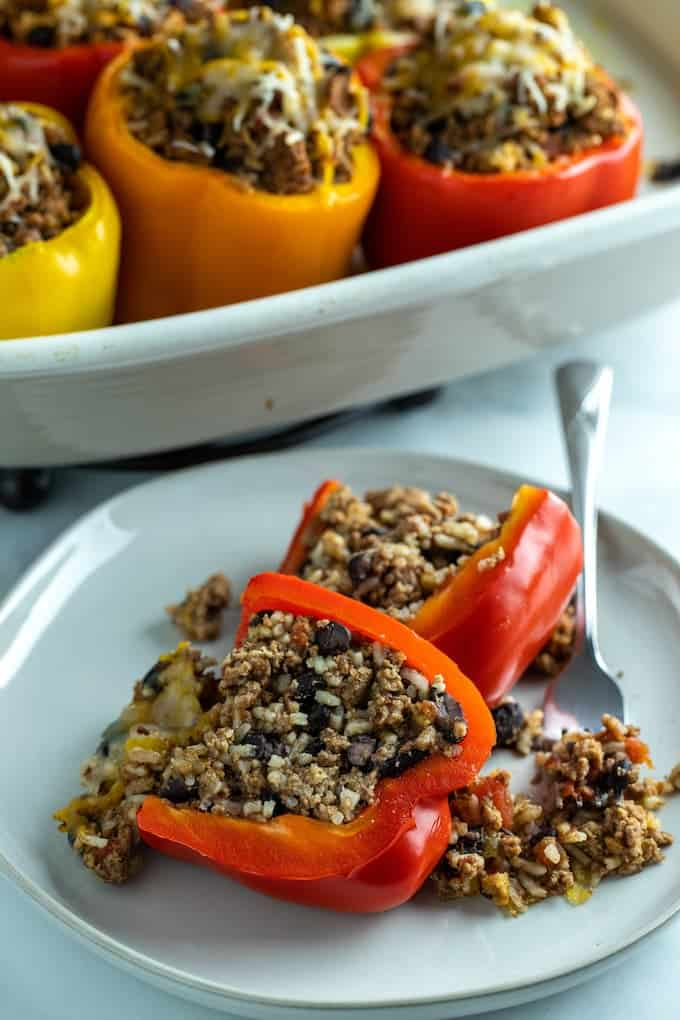 turkey stuffed bell peppers