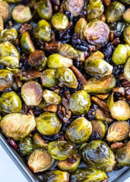 roasted brussel sprouts with balsamic
