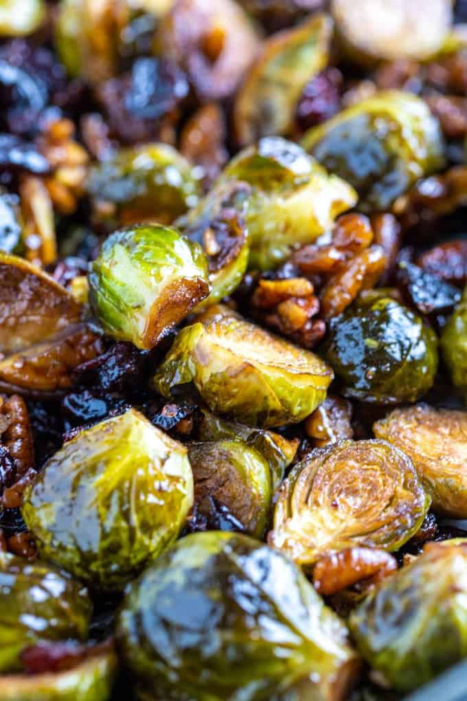 roasted brussel sprouts with craisins